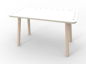 weißer großer Kinderspieltisch aus Holz von pure position
