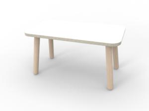 weiße Kindersitzbank aus Holz von pure position