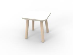 weißer Hocker für Kinder aus Holz von pure position