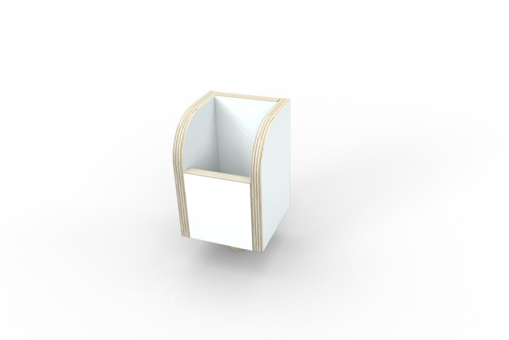 weiße Stiftebox aus Holz von pure position