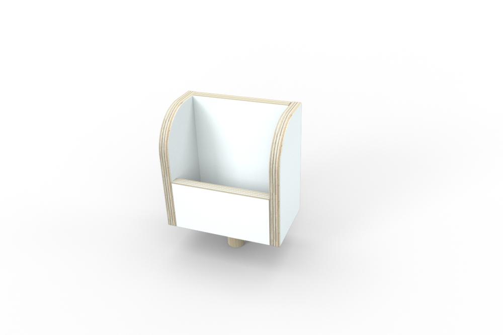 weiße Zettelbox aus Holz von pure position