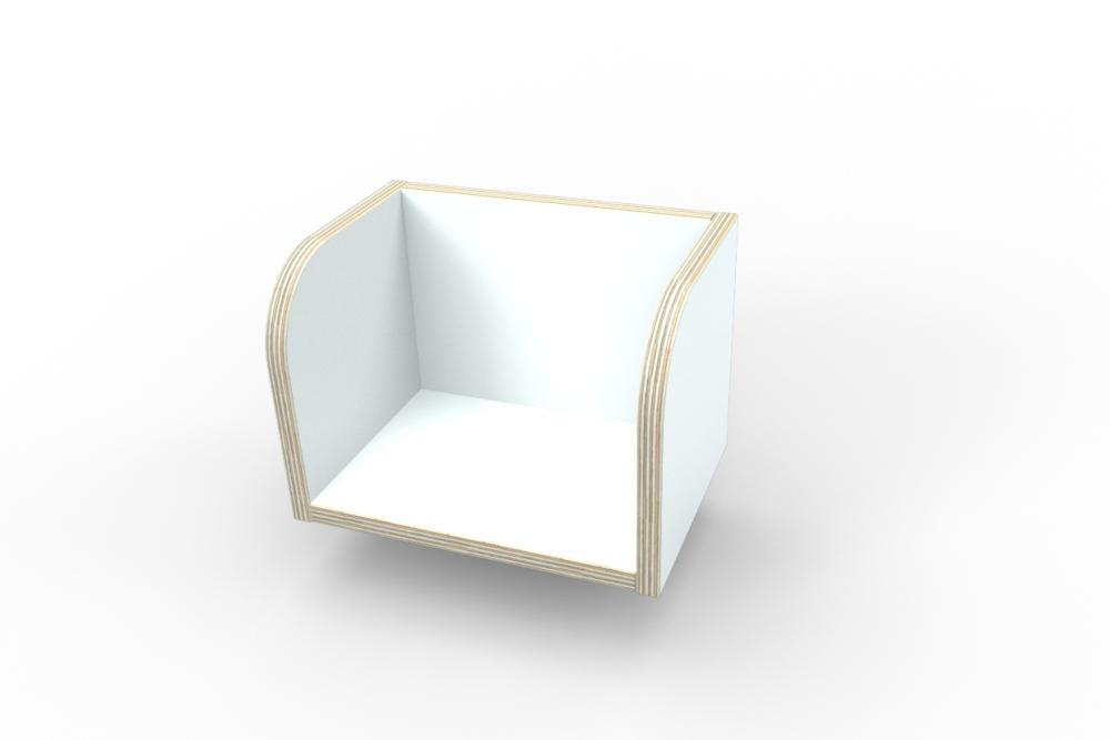 weißes Bücherboard aus Holz von pure position