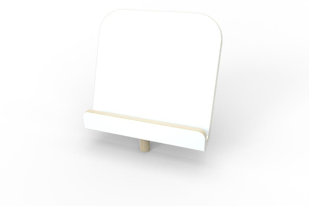 weißer Buchaufsteller aus Holz von pure position