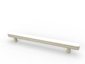 weiße Abreißschiene aus Holz von pure position