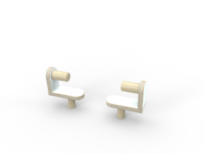 weiße Papierrollenhalter aus Holz von pure position