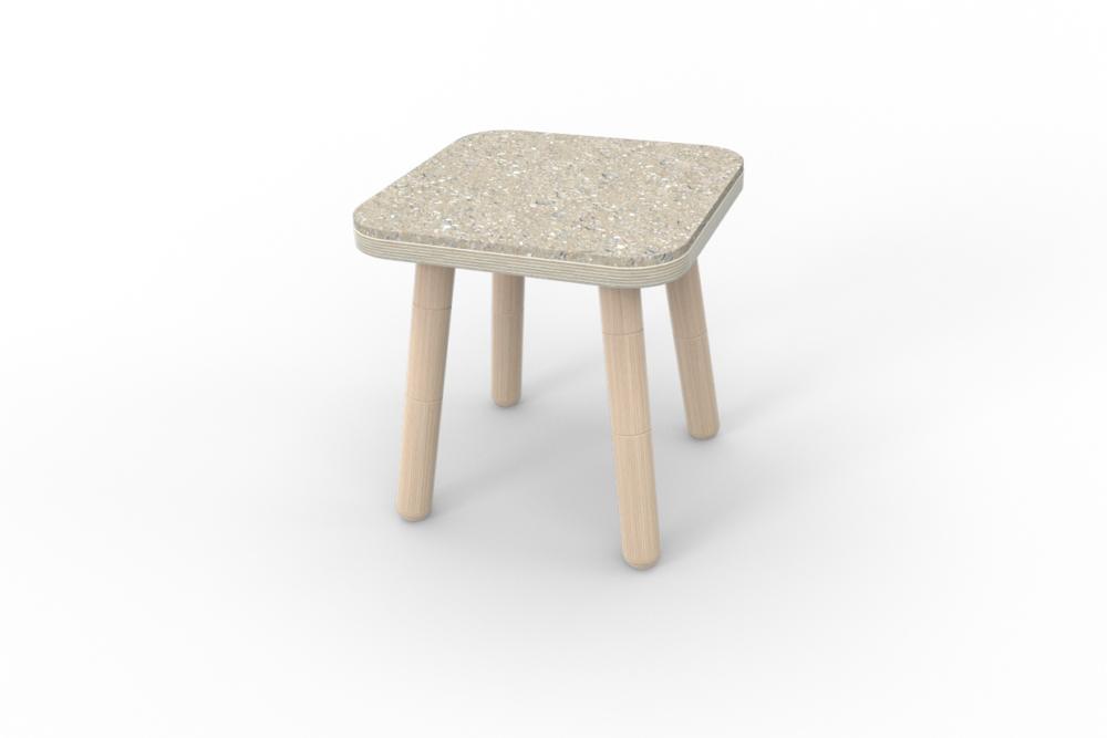 Sitzauflage aus Filz für den Hocker von pure position