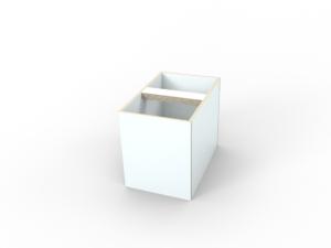 weiße Innenbox Spielzeugtruhe aus Holz von pure position