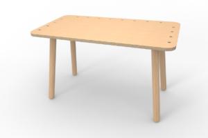 großer Kinderspieltisch aus Holz von pure position