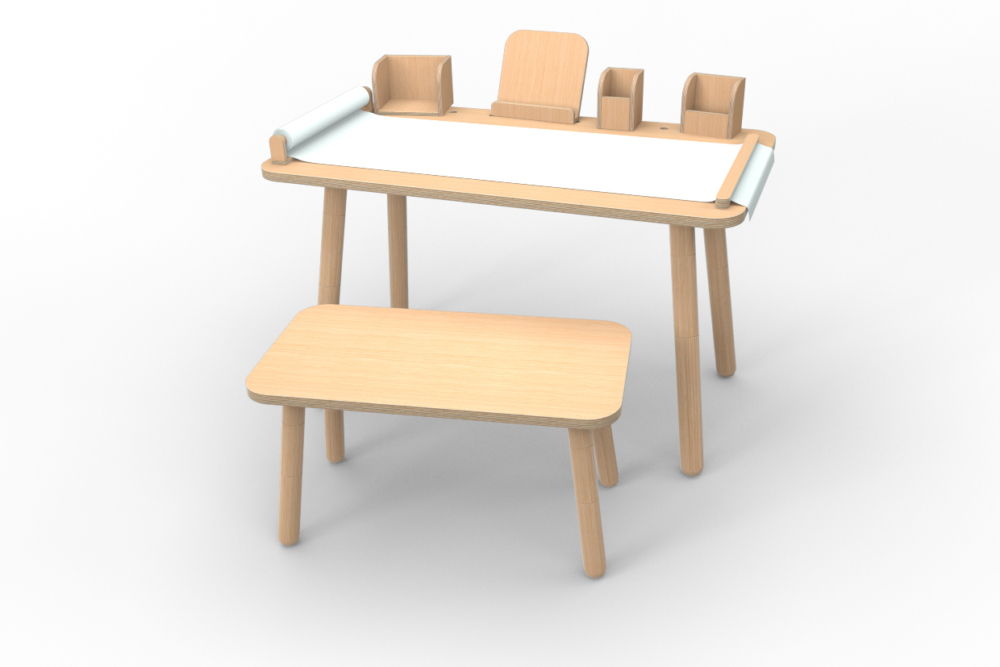 Komplett-Set growing table aus Holz von pure position