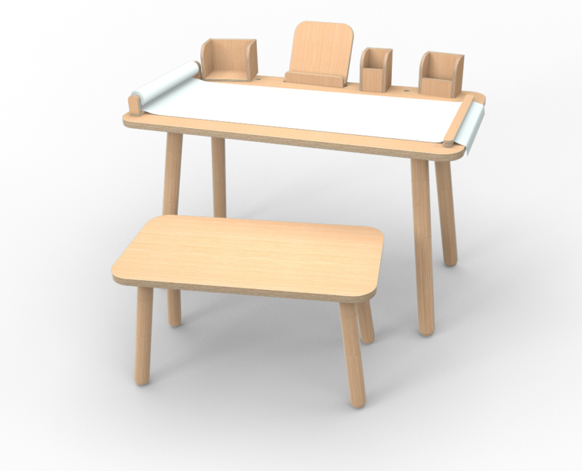 Komplett-Set growing table aus Holz von pure position