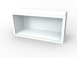 weißes Rahmen-Modul aus Holz von pure position
