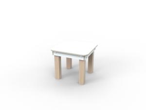 weißer Kinderhocker aus Holz von pure position
