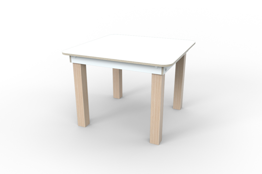 weißer Kinderspieltisch aus Holz von pure position