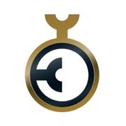 goldener runder Kreis un schwarzer runder Kreis in der Mitte als Logo vom german design award
