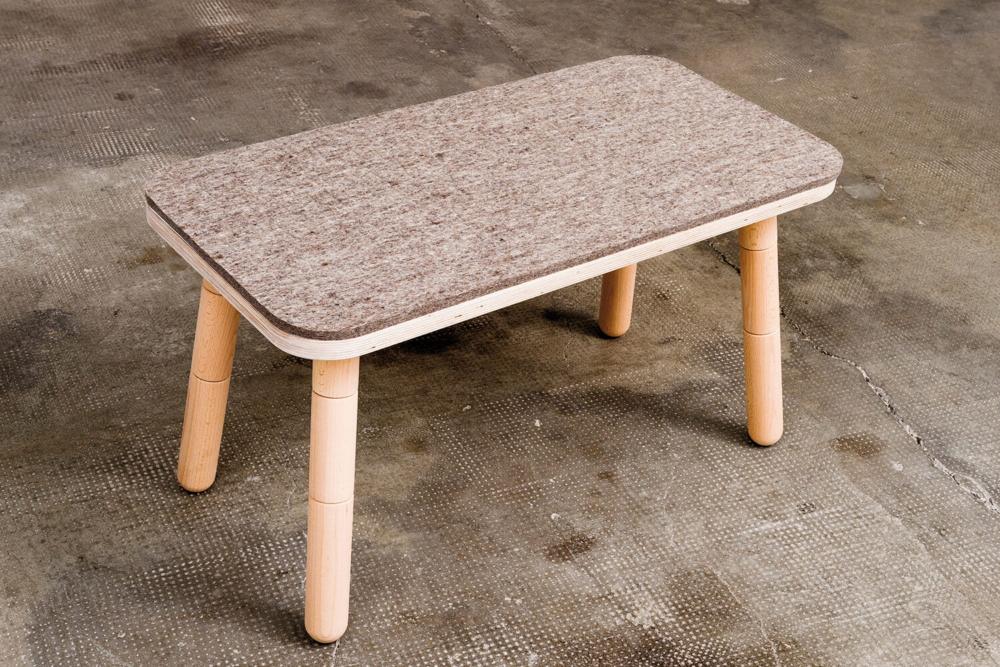 Filzbezug Sitzbank für Kinder aus Holz von pure position