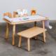 höhenverstellbarer Kinderschreibtisch aus Holz von pure position