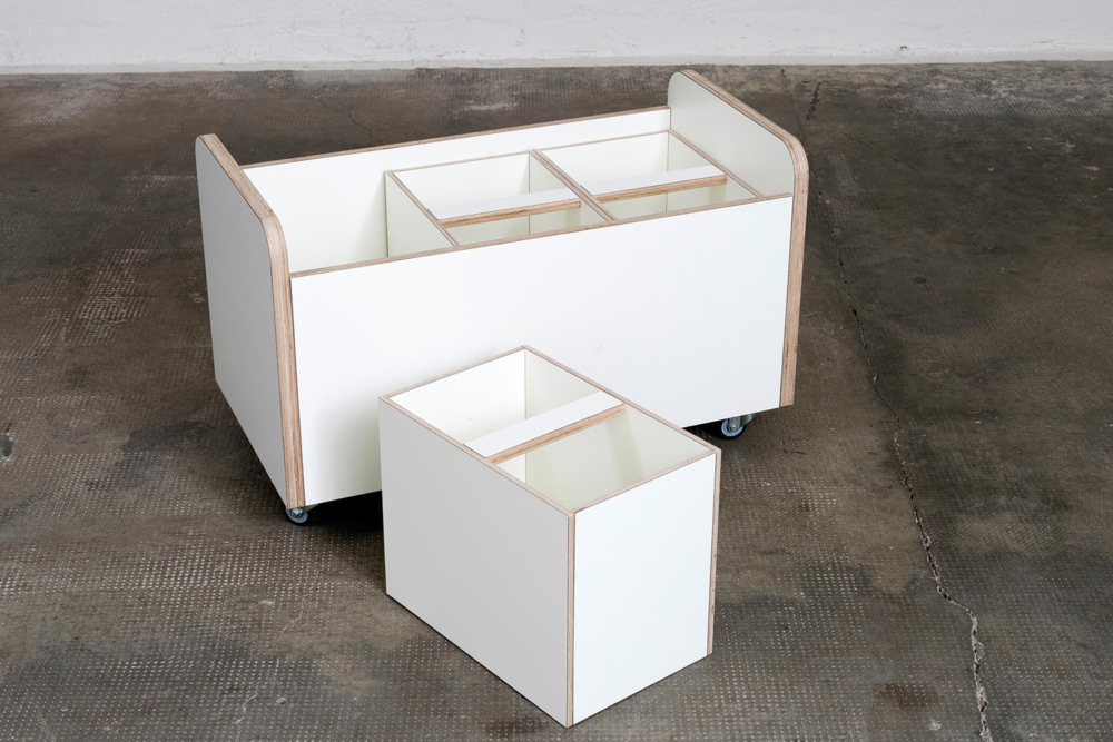 Aufbewahrungstruhe weiß aus Holz von pure position
