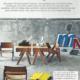 Titelbild vom Luna Magazin mit Möbeln als Titelbild und mit schwarzer Aufschrift Frisch aufgetischt