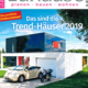 Titelbild vom Magazin mein schönes zuhause mit einem modernen Haus und einer Steingarage als Titelbild